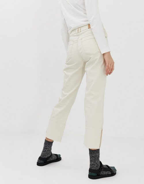 Iden Denim Sylvia relaxed striaght leg jean with turn-up co-ord