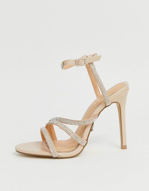 Lipsy diamante heeled sandal in pink