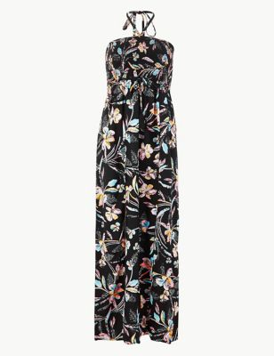 M&S Collection Floral Halter Neck Swing Dress
