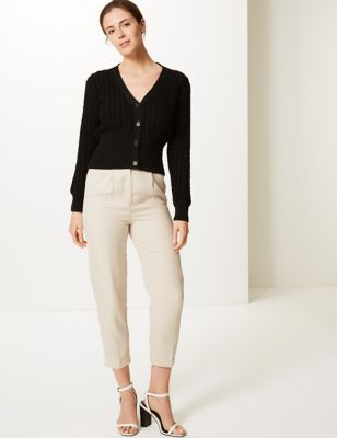M&S Collection Tapered Leg Trousers
