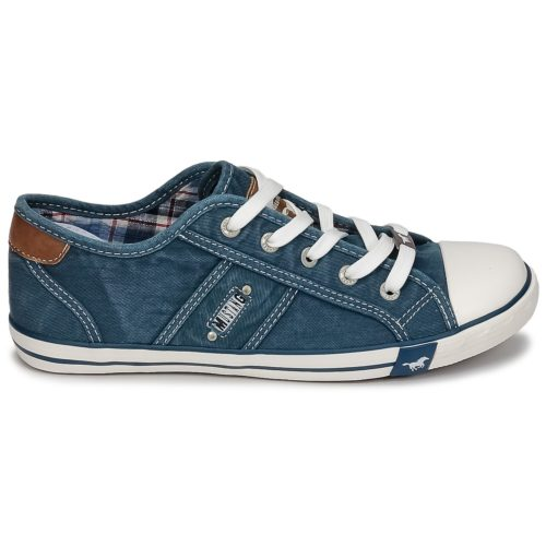 Mustang RUGARL women's Shoes (Trainers) in Blue