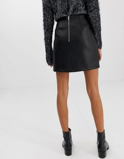 New Look mini skirt in faux leather