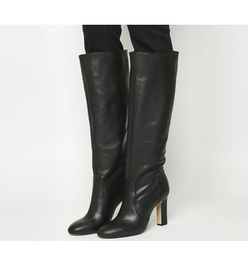 Office Kitsch-smart Knee Boot BLACK LEATHER