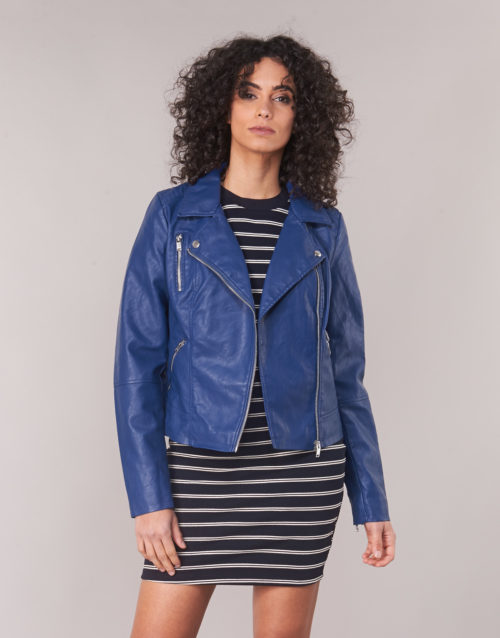 Only ONLMILEY women's Leather jacket in Blue