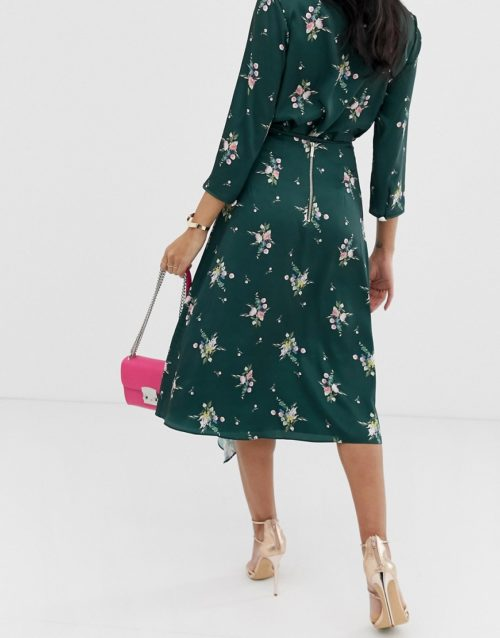Ted Baker Anabell midi skirt in flourish print
