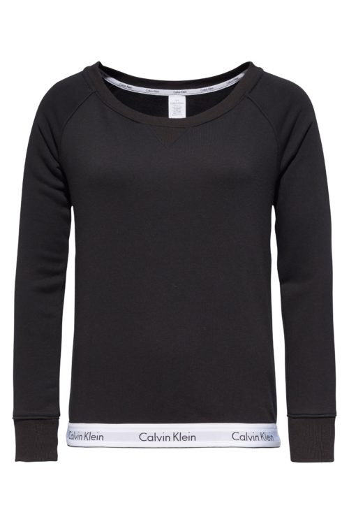 Womens Calvin Klein Modern Cotton Lounge Sweatshirt - Black