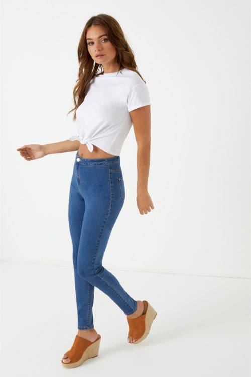 Womens Missguided Vice Skinny Jeans - Blue