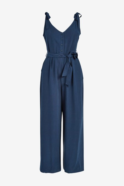 Womens Next Navy Printed Jumpsuit - Blue