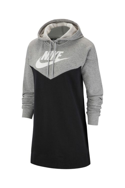 Womens Nike Heritage Hooded Dress - Black