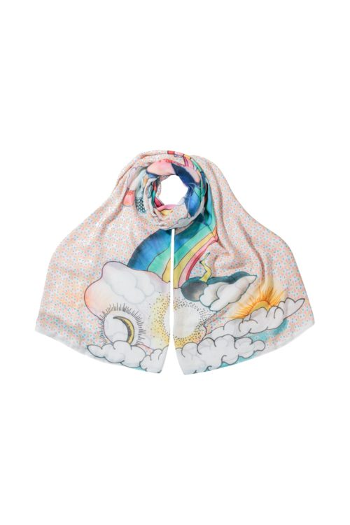Womens Oliver Bonas Head In The Clouds Scarf - Orange