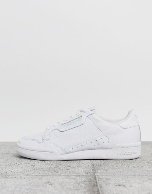 adidas Originals Continental 80s Trainers in triple white