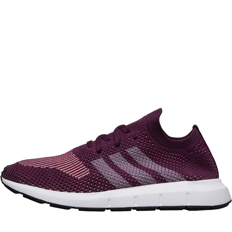 cheap for sale wholesale online classic adidas Originals Womens Swift Run Primeknit Trainers Red Night/Footwear  White/Core Black