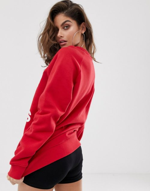 adidas Originals oversized sweatshirt in red