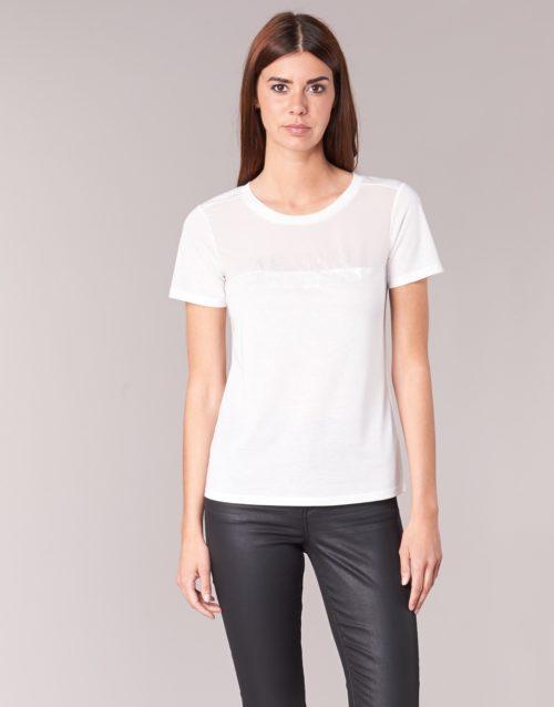 Armani jeans KAJOLA women's T shirt in White. Sizes available:UK 10,UK 12