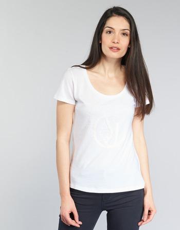 Armani jeans LASSERO women's T shirt in White. Sizes available:UK 8,UK 12,UK 14