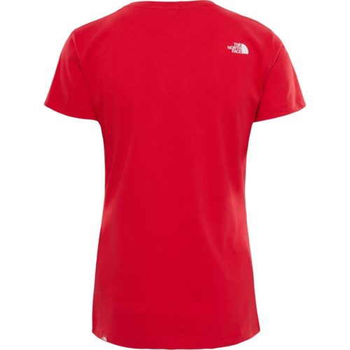 The North Face W S/S EASY TEE - RED women's T shirt in Red. Sizes available:UK XS,UK L,UK XL
