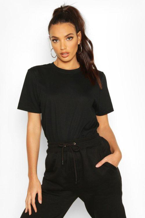 Womens Oversize T-Shirt - black - L, Black