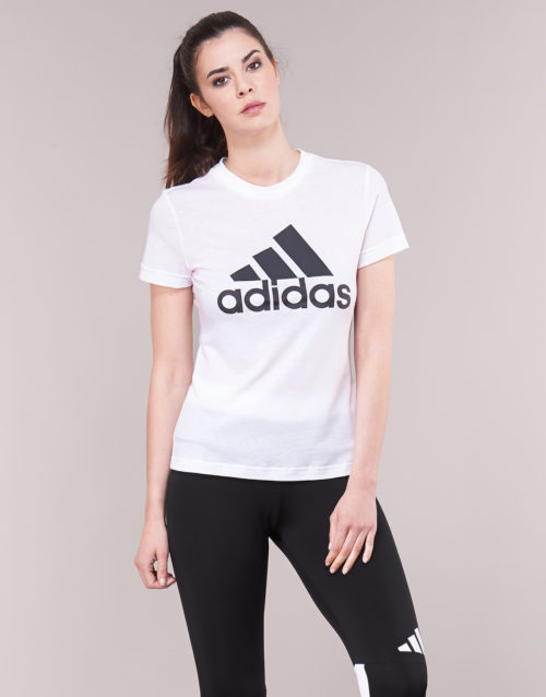 adidas DZ0015 women's T shirt in White. Sizes available:S,M,L,XL,XS