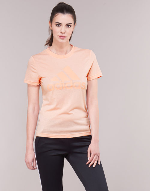 adidas EB3797 women's T shirt in Pink. Sizes available:S,M,L,XL,XS