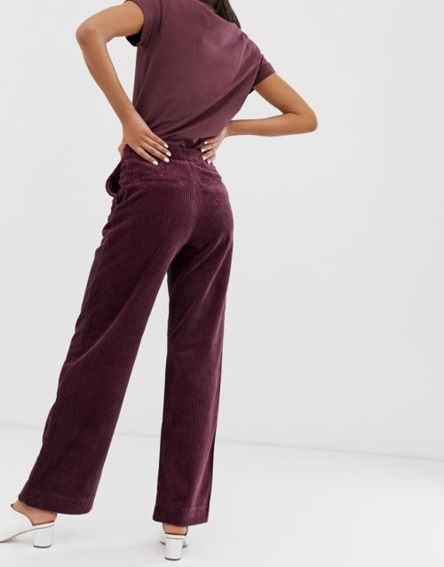2NDDAY Ambra wide leg trousers-Red
