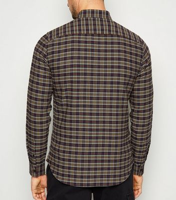 Black Check Oxford Shirt New Look