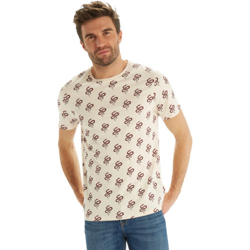 Camps United Short sleeve printed t-shirt men's T shirt in Pink. Sizes available:EU S,EU M,UK XL