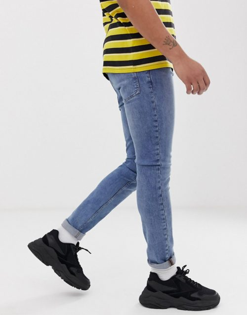Cheap Monday tight skinny jeans in fair blue