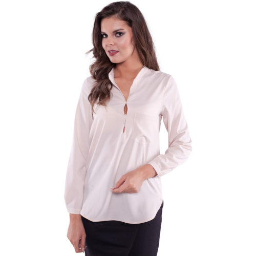 Clarisse Mathilde Blouse in Beige