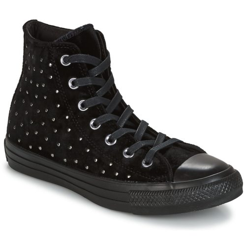 Converse CHUCK TAYLOR ALL STAR HI women's Shoes (High-top Trainers) in Black. Sizes available:3.5