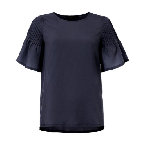 French Connection Blouse Crew neck Short sleeves women's Blouse in Blue. Sizes available:EU S,EU M,UK XS
