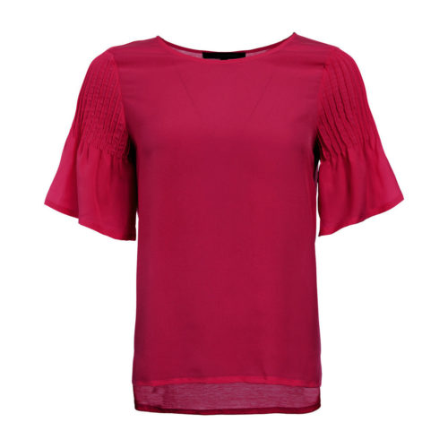 French Connection Blouse Crew neck Short sleeves women's Blouse in Pink. Sizes available:EU S,EU M,EU L,UK XS,UK XL