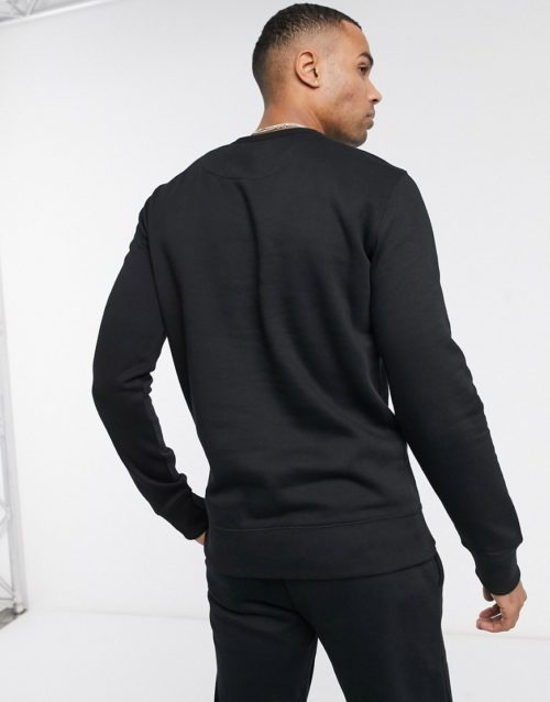 French Connection Essentials Tall sweatshirt with logo-Black