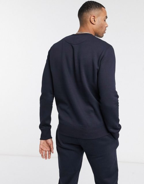 French Connection Essentials Tall sweatshirt with logo-Navy