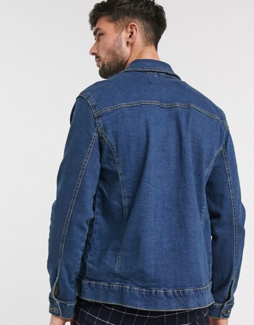 French Connection logo denim jacket-Grey