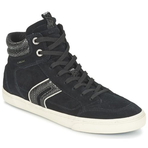 Geox D NEW CLUB women's Shoes (High-top Trainers) in Black. Sizes available:3,2.5,2.5