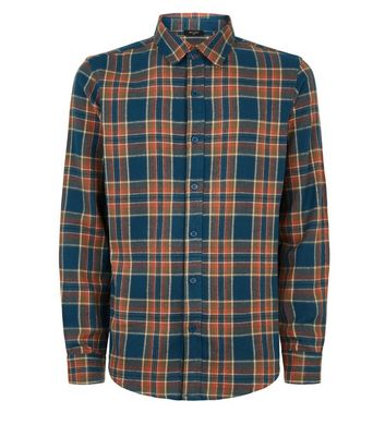 Green Brushed Check Long Sleeve Shirt New Look