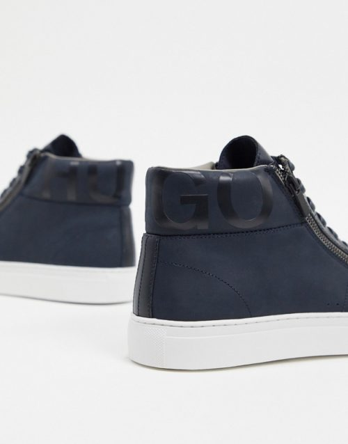 HUGO Futurism high top trainers-Navy