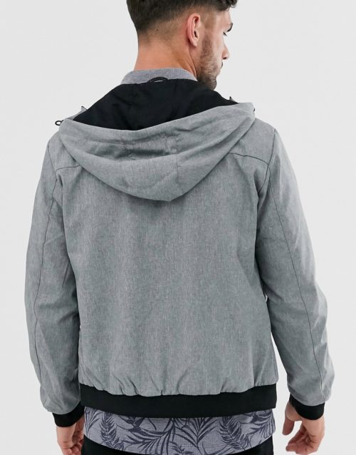 Jack & Jones lightweight jacket with hood-Grey