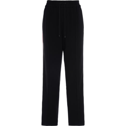 Kenzo Long black trousers with colored side bands women's Sportswear in Black