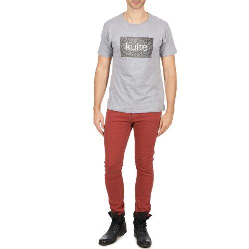 Kulte DENIM JEAN LUC 101810 ROUGE men's Skinny Jeans in Orange