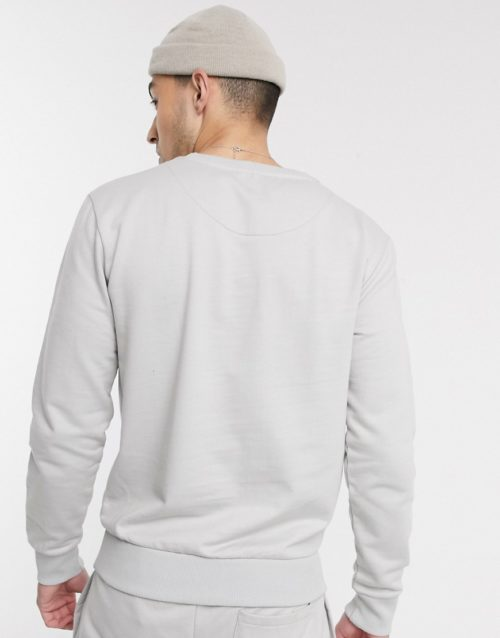 Le Breve mix and match organic cotton sweatshirt in grey