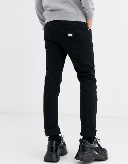 Love Moschino skinny jeans in black