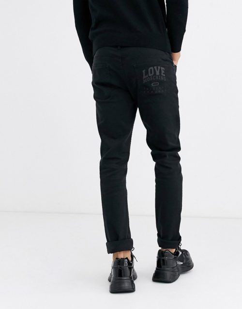 Love Moschino slim jeans in black