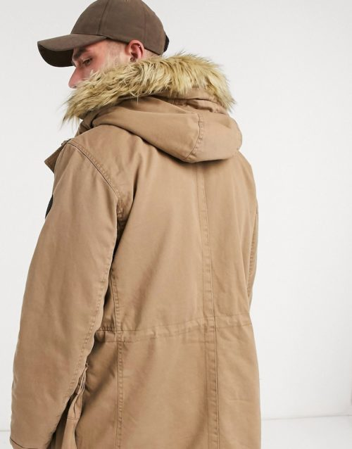 Only & Sons parka jacket-Green