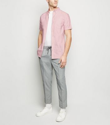 Pink Short Sleeve Cotton Oxford Shirt New Look