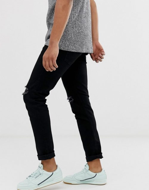 Produkt skinny jeans with knee rips in black