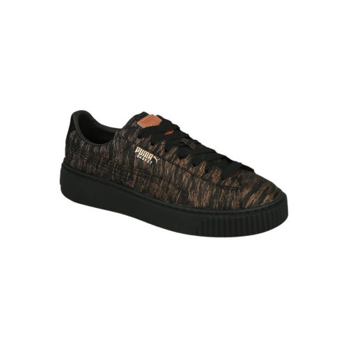 Puma Shoes Basket Platform Vr 364092 02 women's Shoes (Trainers) in Black. Sizes available:4,5,10