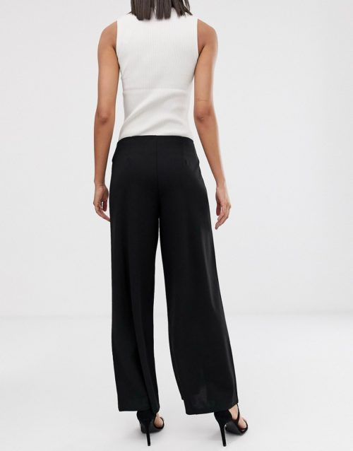 Y.A.S straight leg trousers-Black