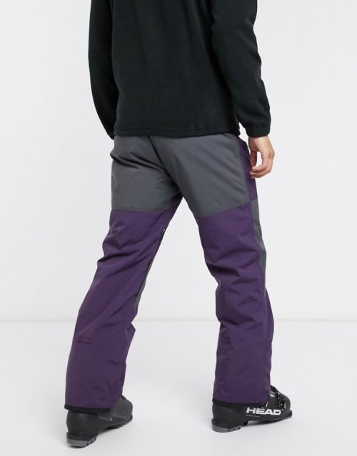 Billabong Tuck Knee ski trousers in purple