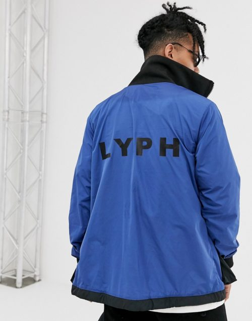 LYPH windbreaker jacket with logo and utility pockets-Blue